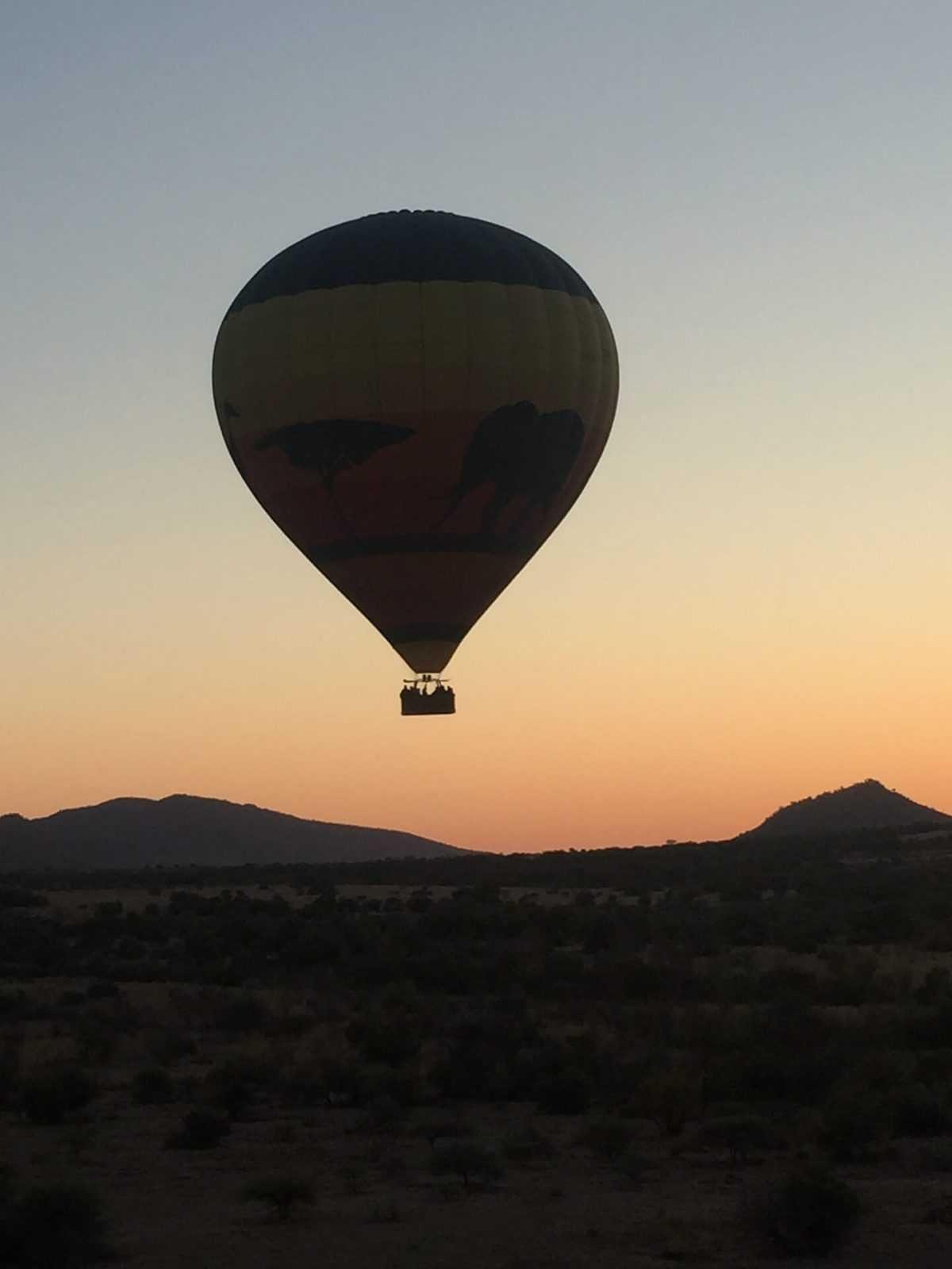 Hot air ballon flight