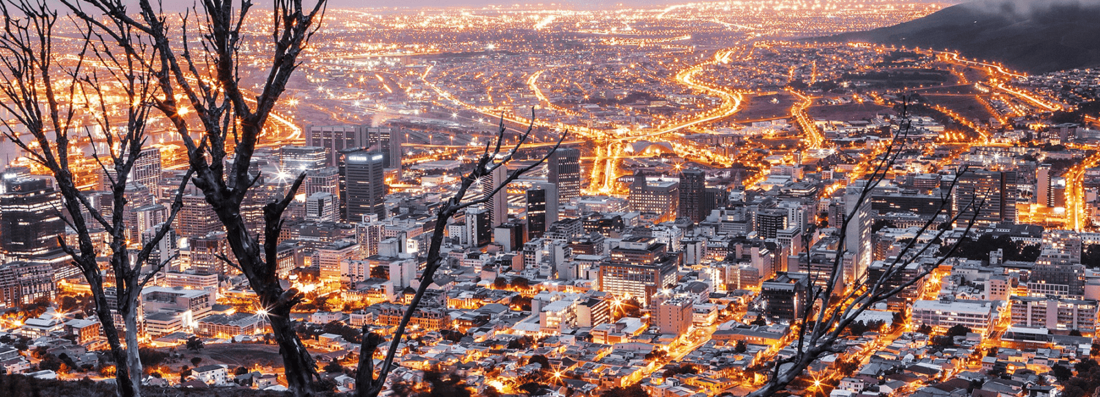 Cape Town, South Africa, by night