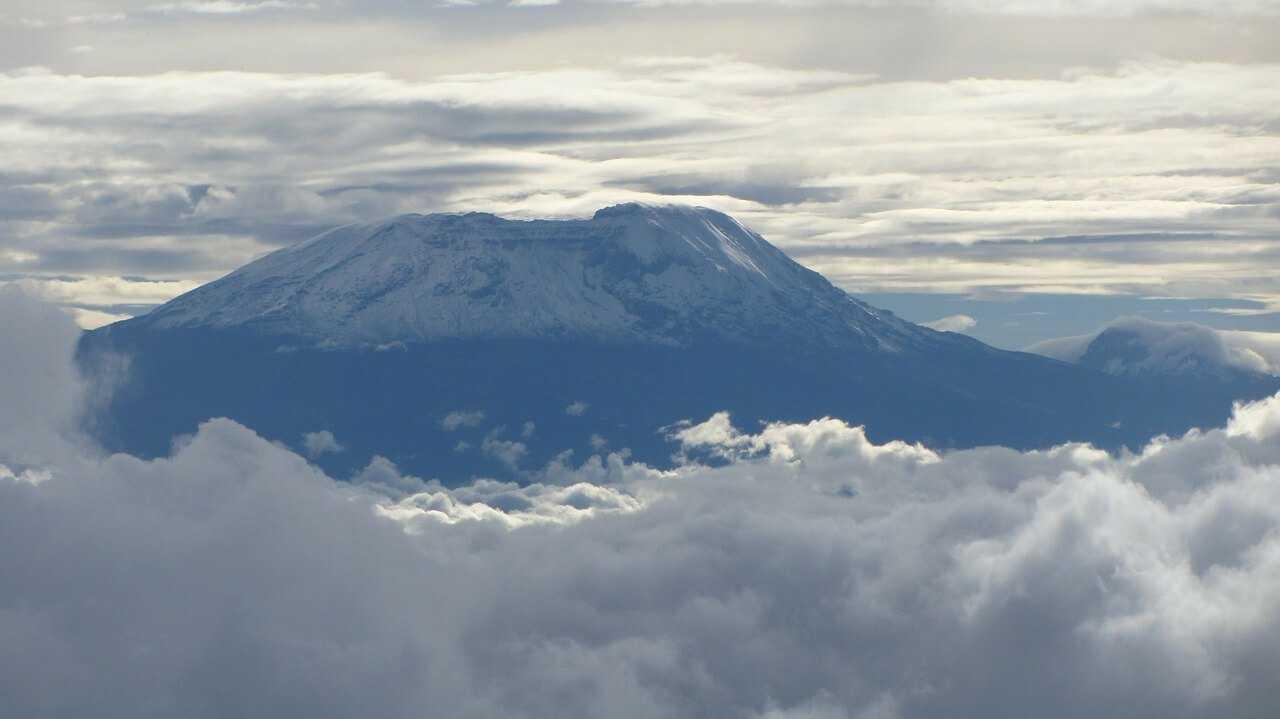 Climbing Kilimanjaro snow capped