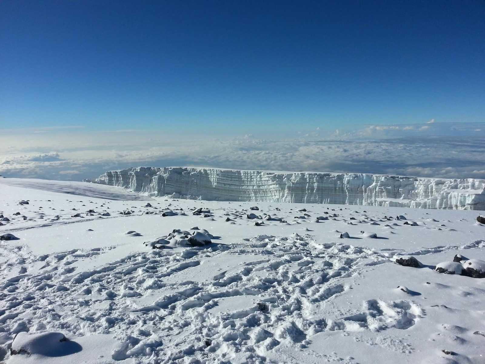 Climbing Kilimanjaro  snow