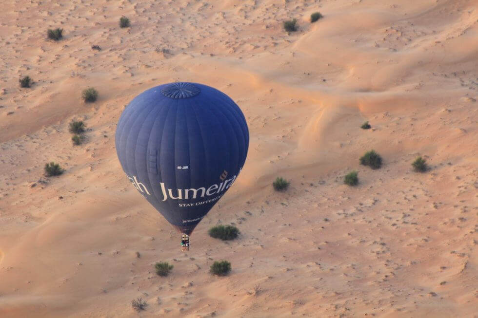 Dubai Desert Tours - balloon ride