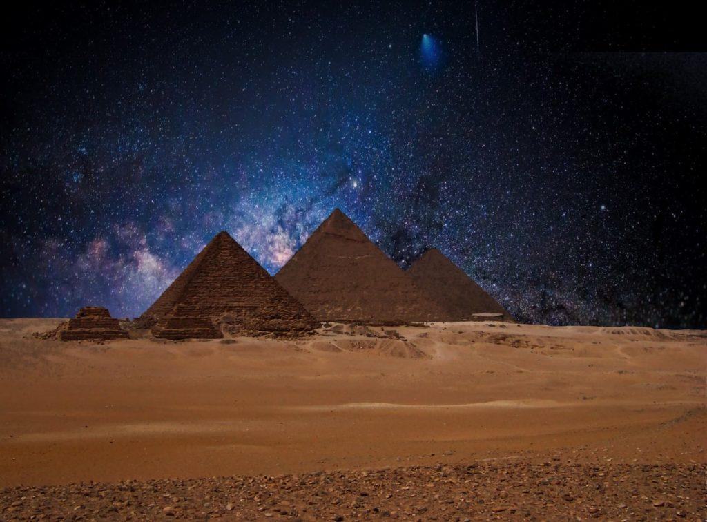 Egypt Holidays Pyramid Desert Stars