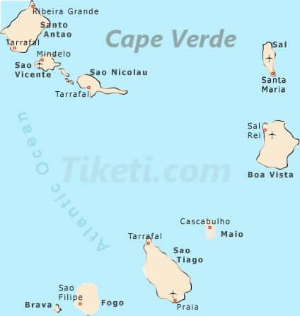 Cape Verde Holidays Map