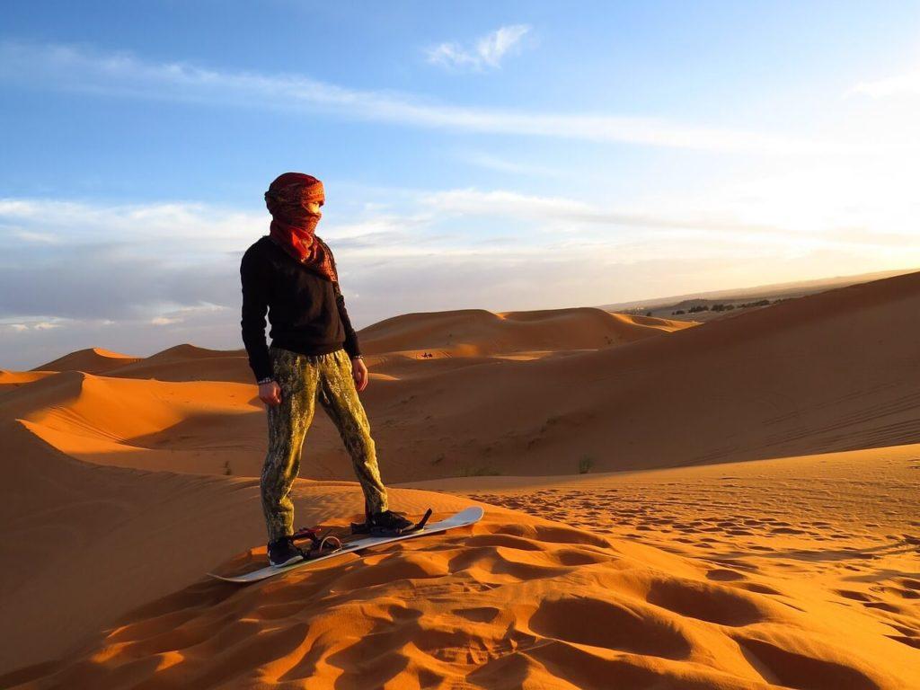 Morocco Holidays Desert Sandboarding