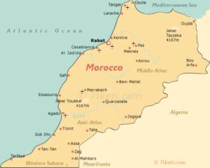 Morocco Holidays Map