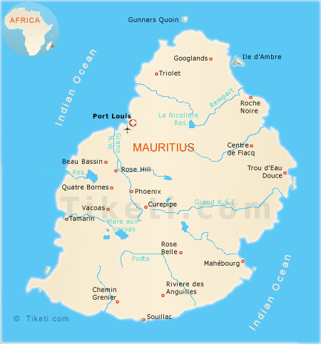 Holiday to Mauritius 2020 - Map