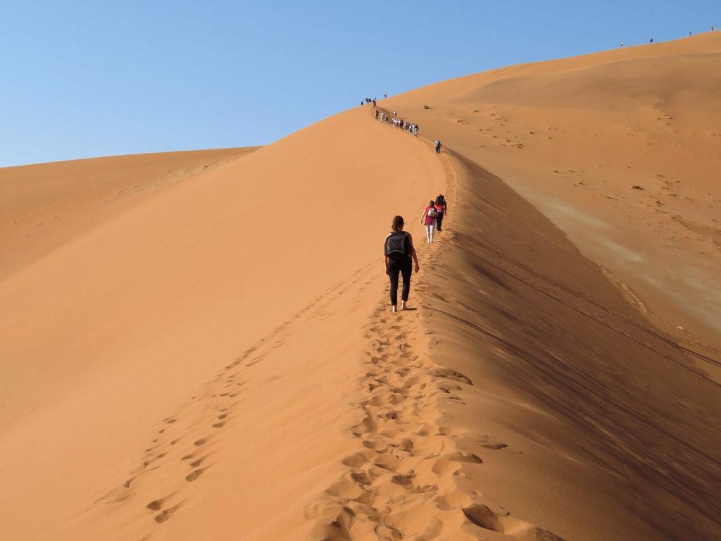 Sand dune climb