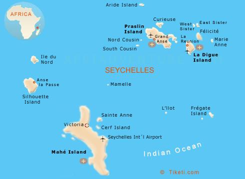 Seychelles Holidays Map