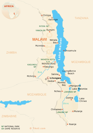 Malawi Travel Map