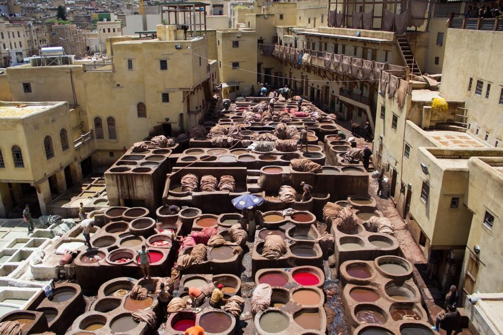 Ancient Tanneries in Fez, Morocco - Holidays in Africa